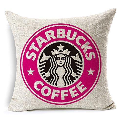 JOMOO STARBUCKS Starbucks coffee quality cotton pillow cushion covers