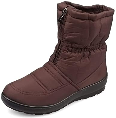 Kemosen Damen Schneestiefel Wasserdichte Winter Kunstpelz Outdoor  Rutschfeste Stiefeletten Boots 9d86773ed9