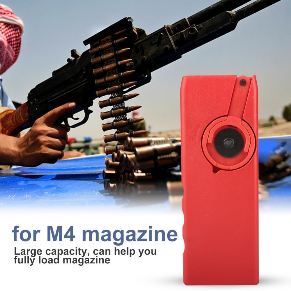 Tbest Chargeur de Vitesse de BB, Chargeur en Plastique Rapide de Chargeur de Chargeur de Vitesse d'Airsoft en Plastique Tactique pour Le Magazine de manivelle de M4