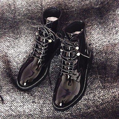 pwne La Mujer Confort Botas De Cuero Negro Casual Otoño Invierno 1A-1 3/4In Negro Us8 / Ue39 / Uk6 / Cn39 US6.5-7 / EU37 / UK4.5-5 / CN37
