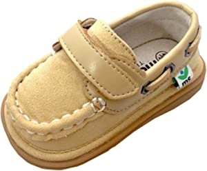 921bd748fc4c Mooshu Trainers Boys Sand Boat Sawyer Squeaky Casual Shoes 3 Baby-9 Toddler  Tan