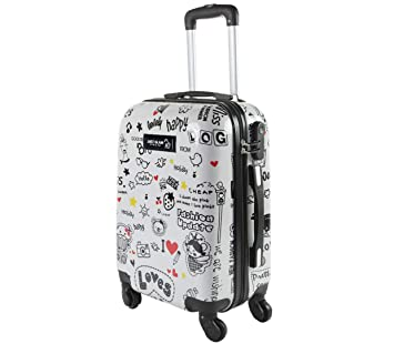 photos officielles 31035 426d6 Valise bagage cabine 55cm - Trolley ABS ultra Léger - 4 ...