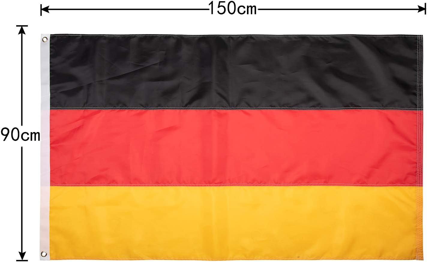 Lixure Bandera de Alemania 5x3 Días Ventosos 5x3ft (150x90cm ...