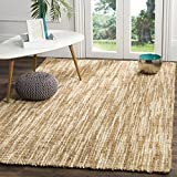 Safavieh Natural Fiber Collection NF260A Natural and Cream Area Rug, 4′ x 6′ For Sale