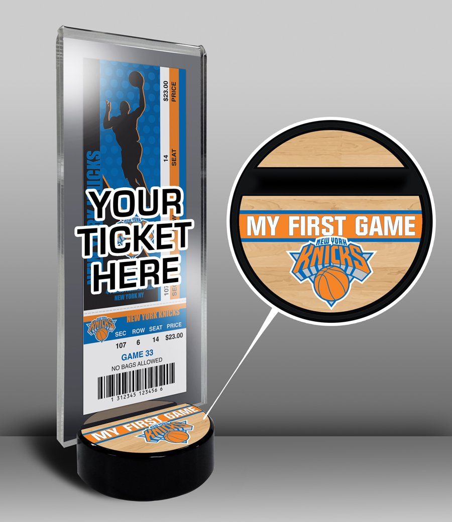 NBA New York Knicks My First Game Ticket Display Stand, One Size, Multicolored by That's My Ticket