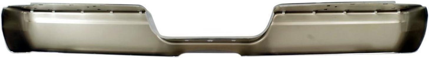 Chrome CH1102344 Steel Rear Bumper Face Bar Shell for 1994-2002 RAM 1500 2500 3500 Pickup 94-02 MBI AUTO
