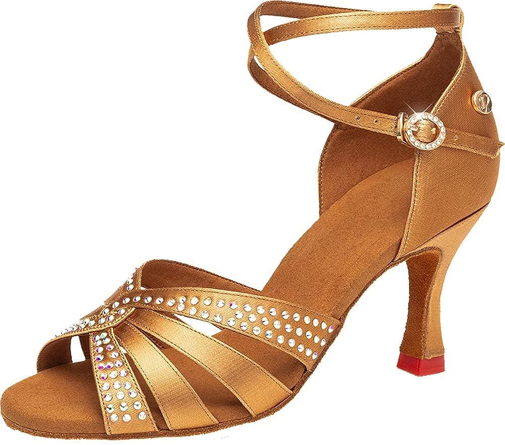 DFdance  Damen Damen Damen Standard & Latein Gold - Gold - Größe  38 edbf03