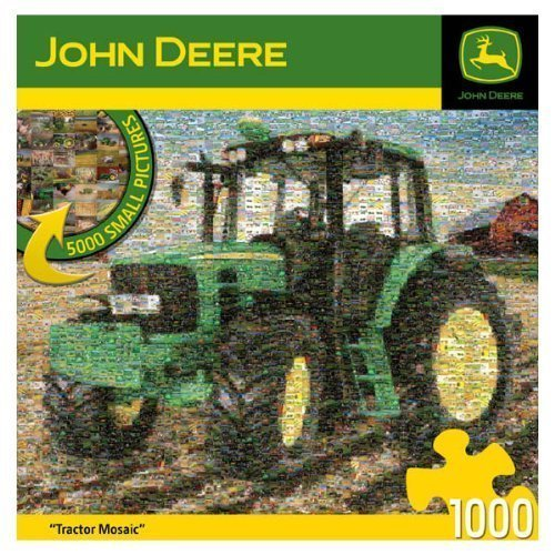 1000-Piece John Deere Mosiac Puzzle Art by NA by MasterPieces