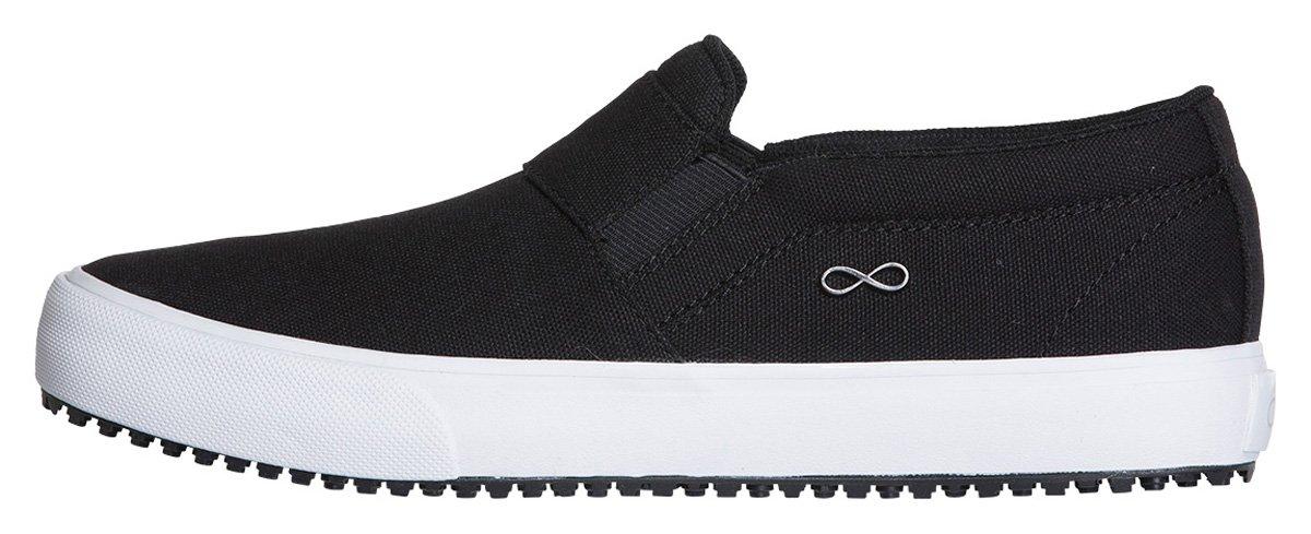 Infinity Footwear Men's Athletic Footwear 8H|Textile Black, White