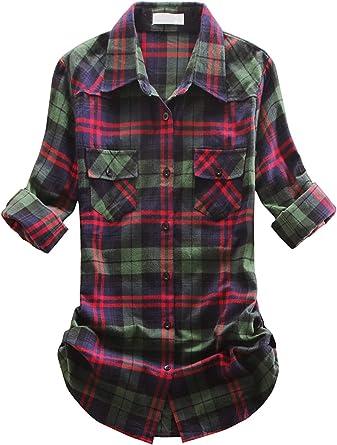 Camisa de franela con forro polar para mujer: Amazon.es: Ropa ...