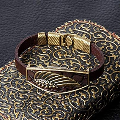 ZUOZUO Leather Wristband Design Men S Bracelet Geometric Bronze Cross Wing Lion Owl Black Leather Bracelet Men S Wristband Jewelry Unisex Estimated Price £17.99 -
