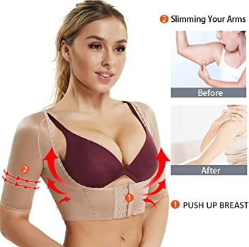 06797a66a Arm Shapers for Women Compression Sleeves Upper Shapewear Posture Corrector  Slimming Vest Crop Tops