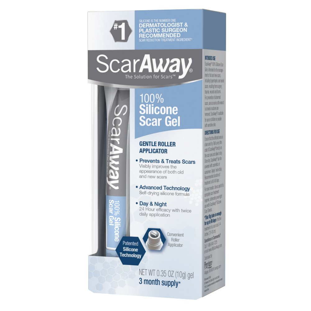 ScarAway Scar Treatment Gel, Clinically Supported to Flatten & Soften Raised Scars, 10g by ScarAway