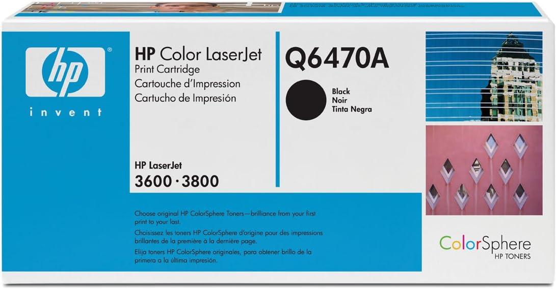 HP Q6470A remanufactured black laser toner cartridge