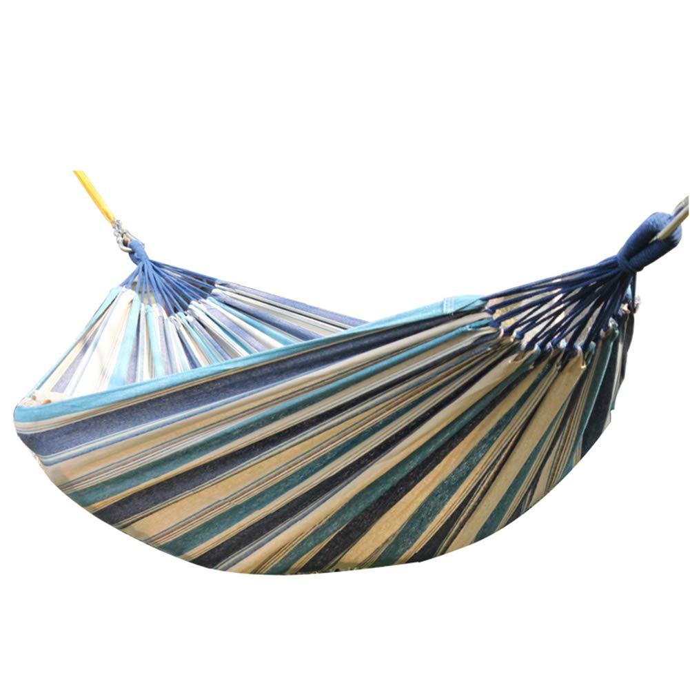 CBDQLLQ Hängematte Leinen-Hängematte Outdoor Reise Hängematte Balkon Garten Strand Camping Wandern