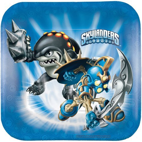 Skylanders Dessert Plates - Birthday and Theme Party Supplies - 8 Per Pack