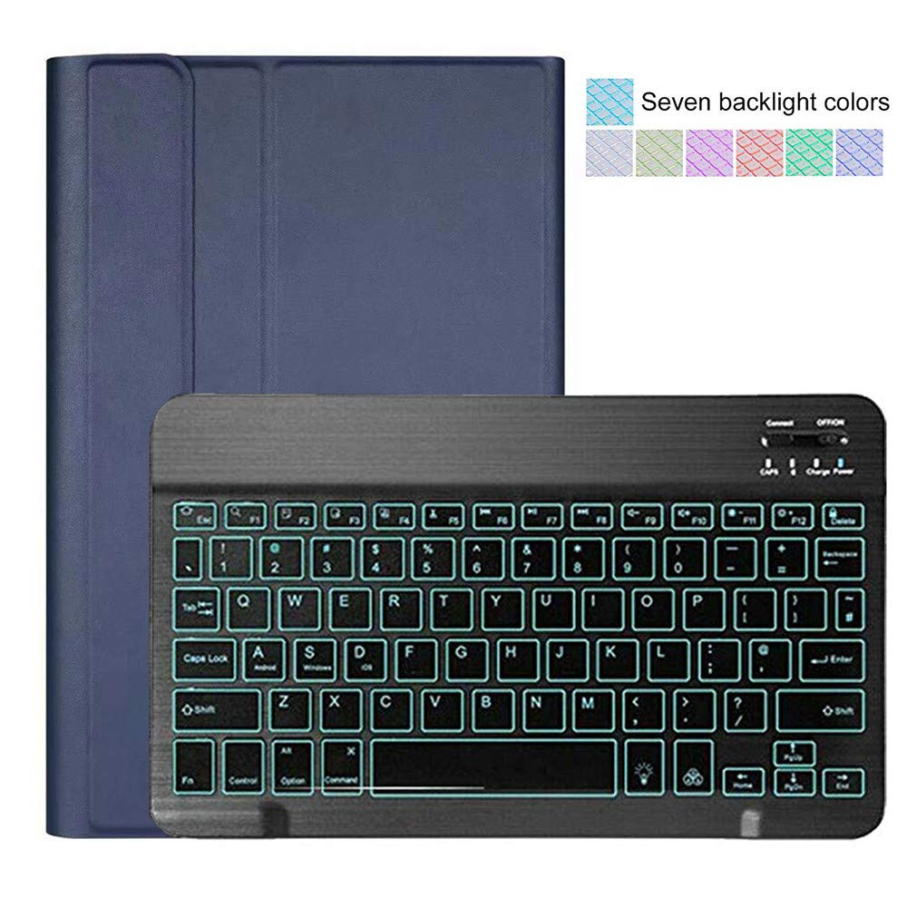 1KTon Removable Backlit Bluetooth Keyboard Case Cover Stand For iPad 10.2 2019 7th by 1KTon