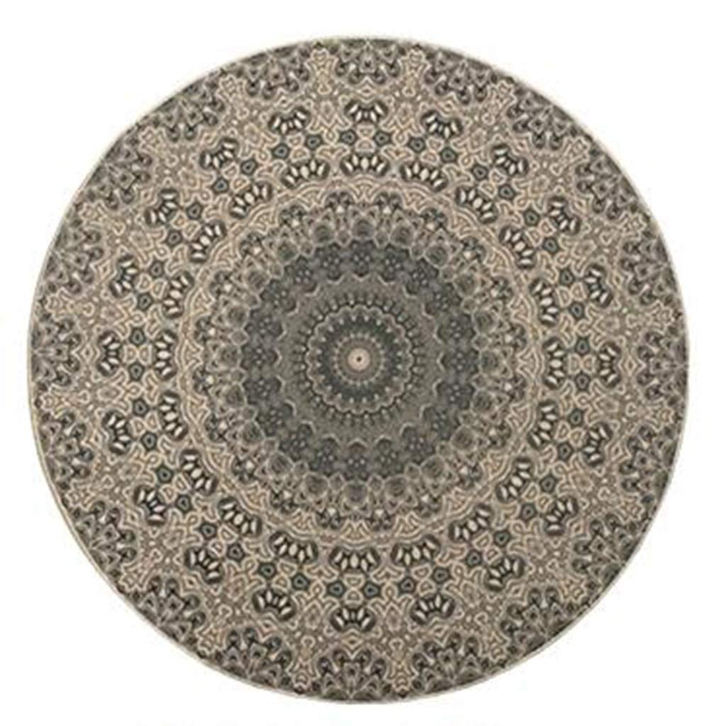 Diameter-75CM Royare Home Decorations mat Round Carpet Ethnic Style Nordic Simple Modern Living Room Bedroom Study Dining Table Hanging Basket Computer Chair Non-Slip Carpet Various Sizes Can Be Washed