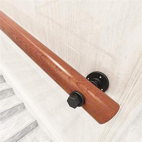 ARMREST Barandilla de Escalera de Madera Redonda de 1ft-10ft con Soporte de Hierro para Uso Interior y Exterior: Amazon.es: Deportes y aire libre
