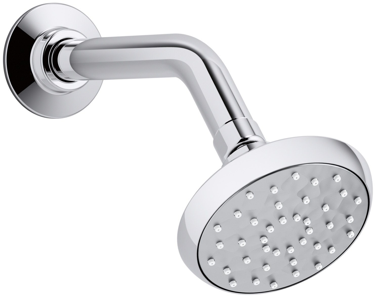 KOHLER K-72422-CP Awaken B90 Single-Function 1.5 GPM Showerhead, Polished Chrome