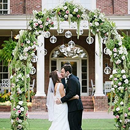 Home Wedding Party Centerpieces Sfeexun 4Pcs Hanging Glass Terrarium 3.15 inches Diameter Globe Tea Light Candle Holders