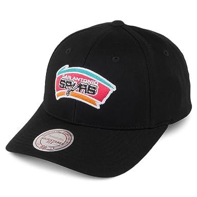 pretty nice 4315d 7a373 Mitchell   Ness Hats San Antonio Spurs Snapback Cap - Team Logo Low Pro -  Black