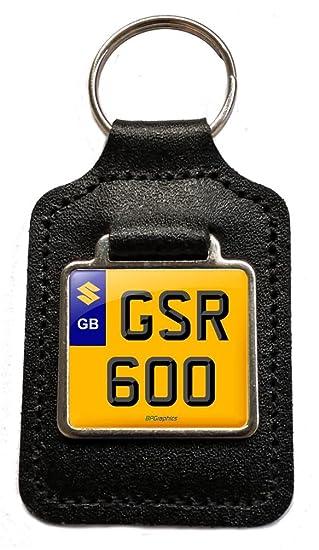 Suzuki GSR 600 - Llavero de piel con matrícula de moto para ...