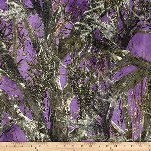 Minky True Timber Woodlands Purple Fabric By The - Fabric Purple Camo