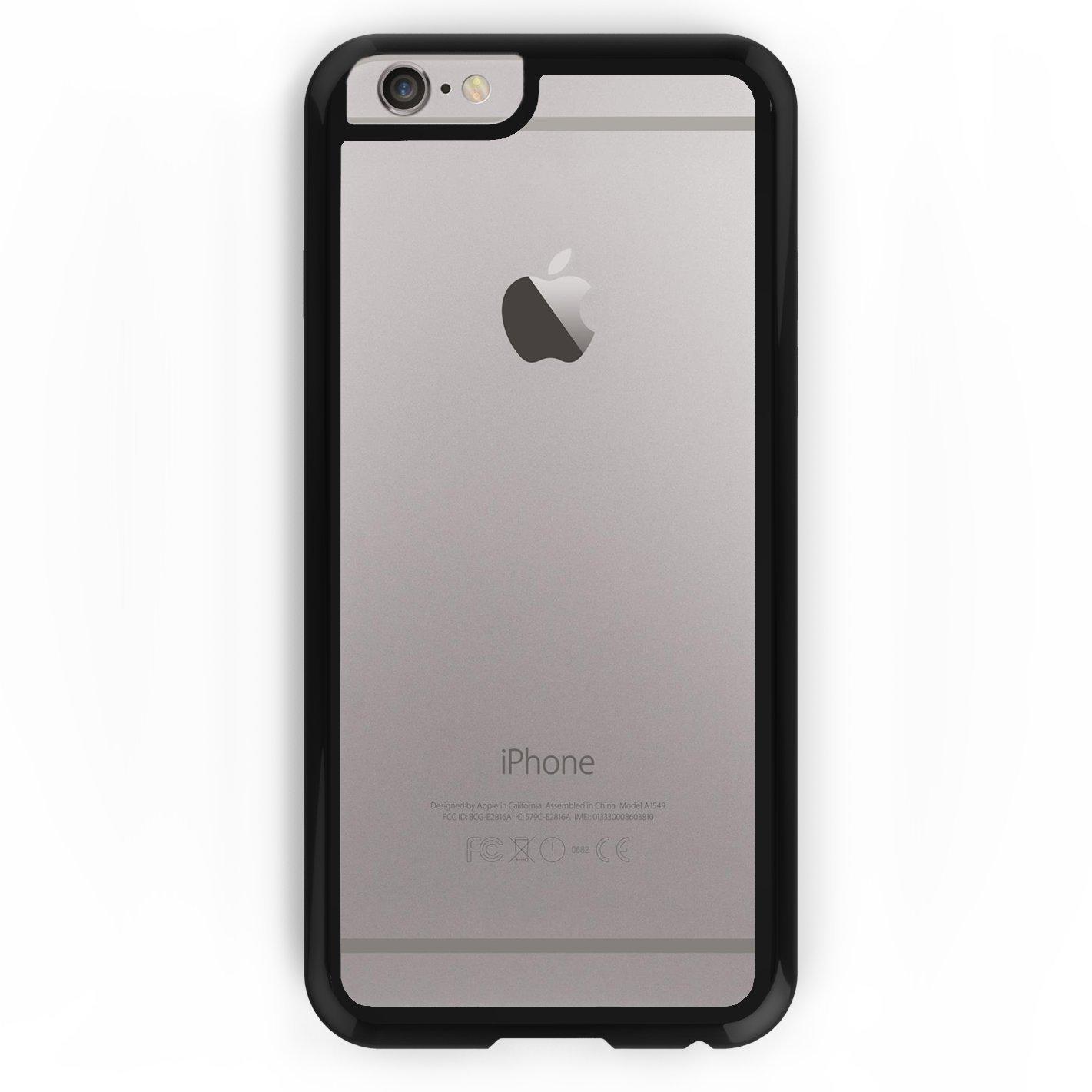 KHOMO® Funda iPhone 6 y 6S Negra Híbrida Carcasa Transparente Anti-Arañazos con Bumper Negro Protector Antichoque para el nuevo Apple iPhone 6 / 6S ...