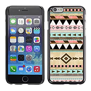 Design for Girls Plastic Cover Case FOR iPhone 6 Native American Winter Christmas Pattern OBBA