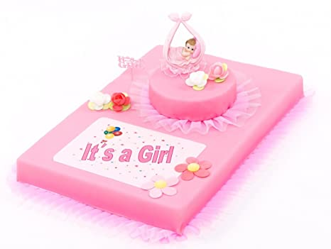 Decorazioni Torte Cinesi : Set decorazione torte baby party it s a girl pezzi decorazione