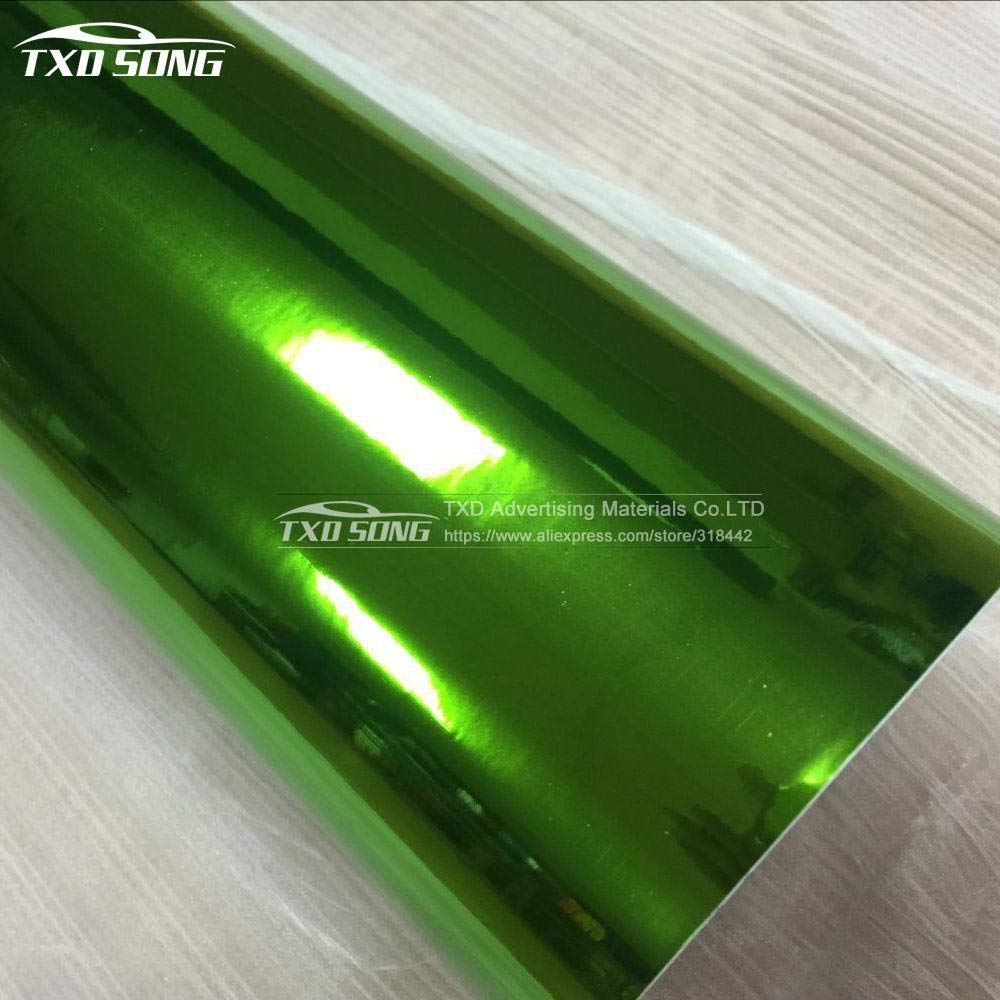 Amazon.com: The Newest High Stretchable Mirror Green Chrome ...