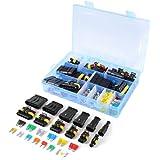 WINGONEERConnettore elettrico impermeabile per auto Terminale 1/2/3/4/5/6 Pin Way + Fusibili - 240PCS