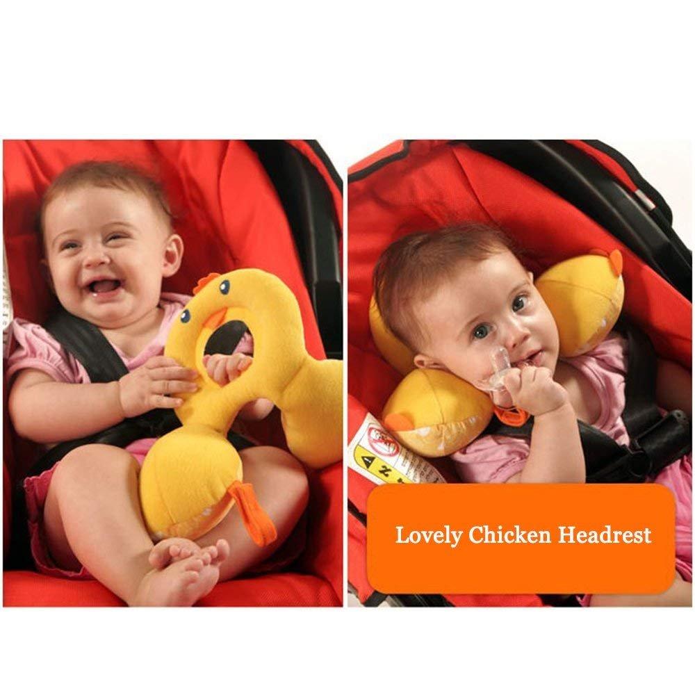 Morbido poggiatesta per bambini e neonati a forma di U,/giallo pollo cuscino poggiatesta da viaggio per seggiolino