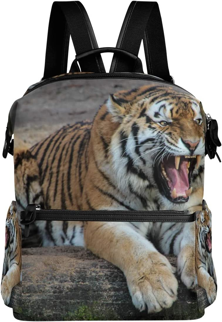 Animal Tiger Wild Backpack for Women Men Girl Boy Daypack Fashion Laptop Backpack for School College Hiking Travel Bag Bookbag Schoolbag