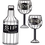 Fox Valley Traders 3 Piece Sip,Wine &Love Wall Hanging Set by HomeStyle Kitchen