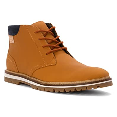 9a64302b460e17 Lacoste Mens Montbard SRM Leather Chukka Boot Shoe