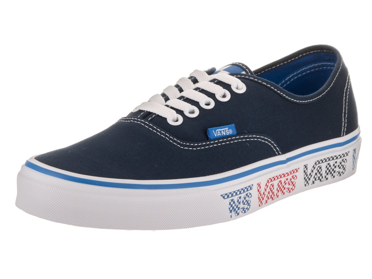 3c00c2dd35 Galleon - Vans Unisex Authentic Checker Tape Dress Blue Blue Red Skate Shoe  9 Men US 10.5 Women US