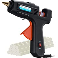 TOPELEK Hot Glue Gun, 60W/100W Dual Power High Temperature Melting Glue Gun Kit with 12 Glue Sticks, for DIY Small Crafts, Arts, Home Quick Repairs, Festival Decoration