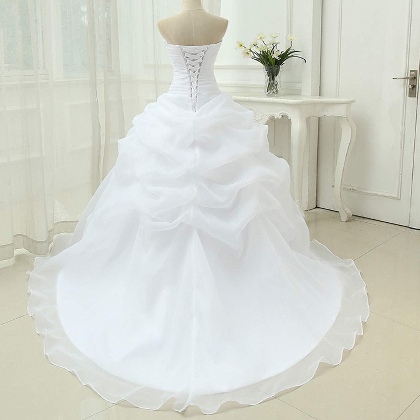 Yuxin Sweetheart Romantic Beading Wedding Dresses for Bride 2020 Long Ball Gown Bridal Dress