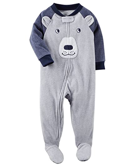 d968c047b Amazon.com  Carter s Baby Little Boys  1 Piece Bear Fleece Pajamas ...
