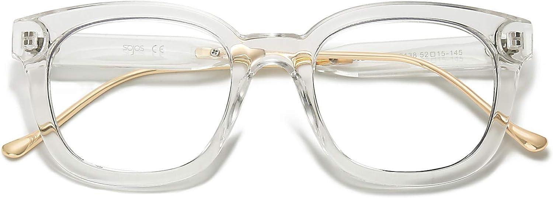 SOJOS Classic Square Blue Light Blocking Computer Glasses for Women Men SJ5060