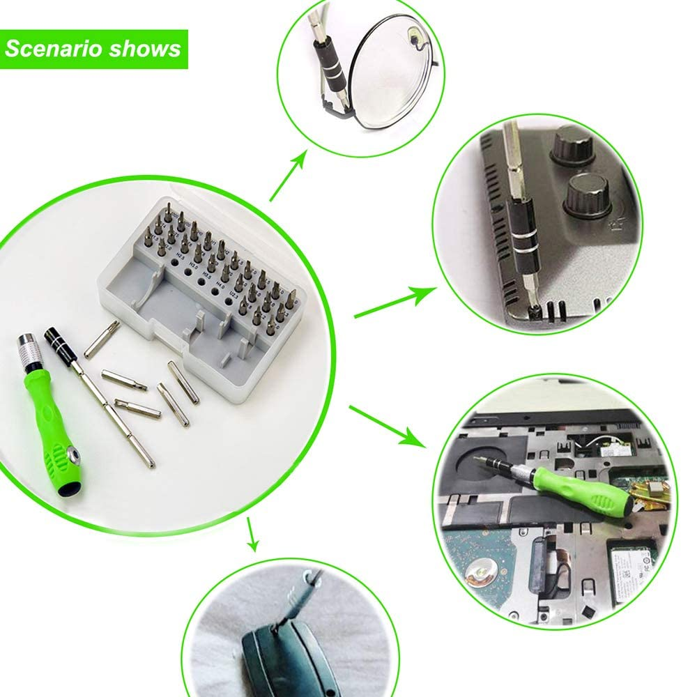 SURZRC 32 in 1Screwdriver Set Mini Precision Magnetic Screwdriver Kit with Adjustable Pole /& Anti-Slip Multifunctional Repair Tools Set for Household Appliances /& DIY Projects