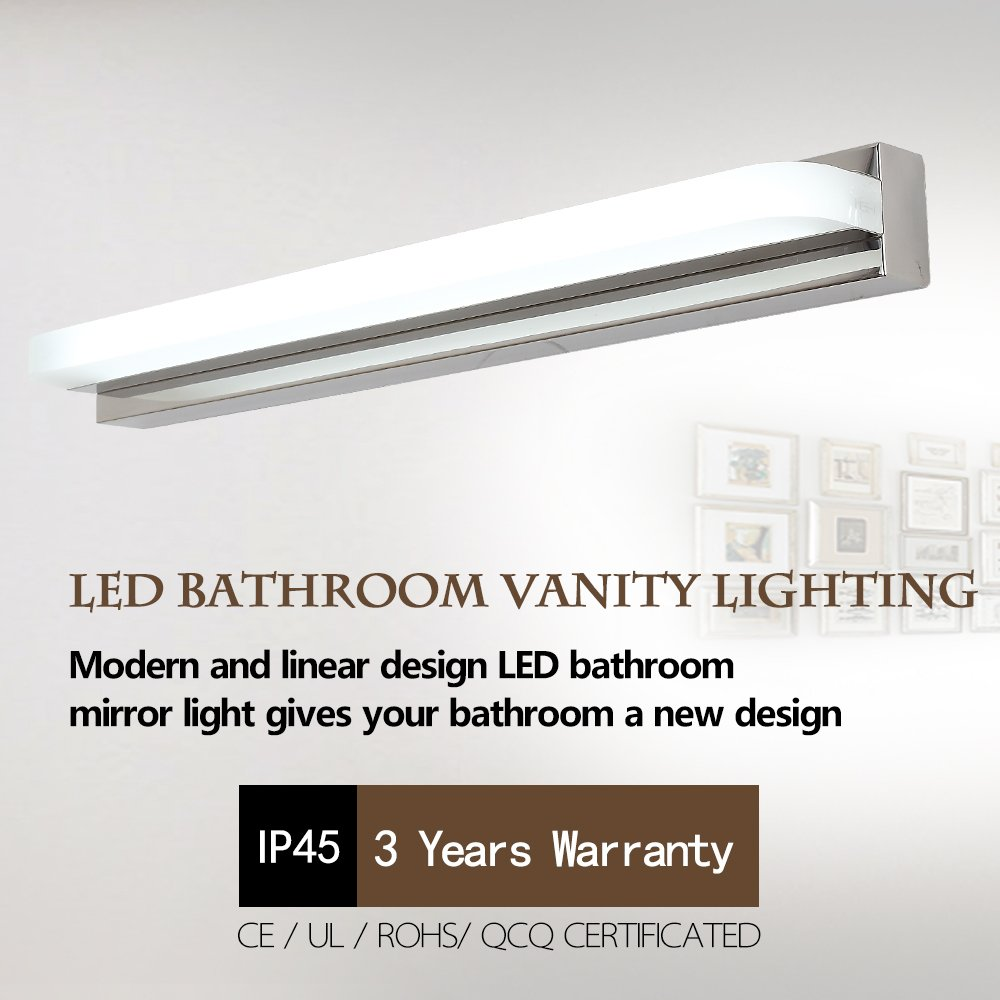 led Bathroom Vanity Lights Bath Mirror Lamps Wall Lights Long Shade ...