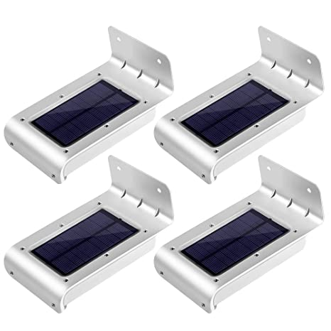 [2ª generación] LE Lámpara Solar LED con sensor, resistente al agua, patio