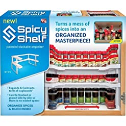 Kitchen Spicy Shelf Spice Rack and Stackable Organizer 1 Set of 2 shelves spice racks