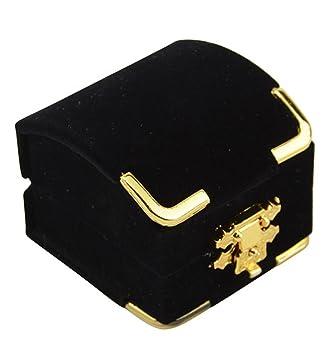 Hermosas cajas de madera de terciopelo sintético para anillos de compromiso, cajas para anillos de boda Antique Velvet Ring Box: Amazon.es: Hogar