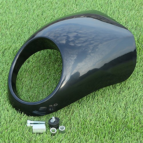 XMT-MOTO Cafe Drag Headlight Fairing Custom Visor For 1973-UP Harley Sportster Dyna FX/XL with 39mm narrow Glide forks