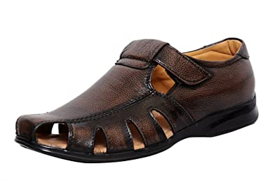baa5cc576 Zoom Mens Sandal Online Genuine Leather Sandals for Men D-1215-Brown Sandal  -