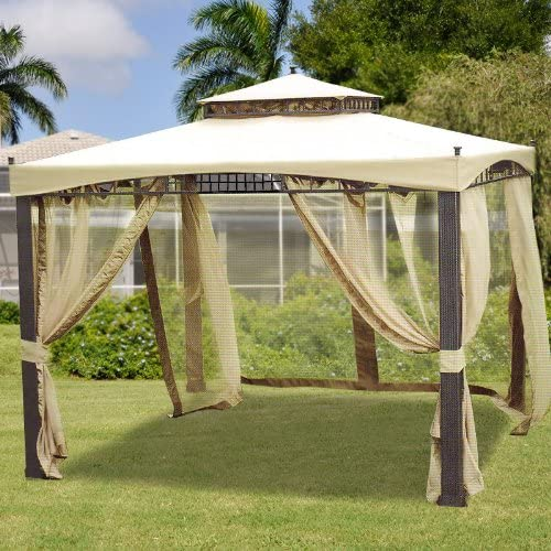 Garden Winds Sydney Gazebo Replacement Canopy Top Cover – RipLock 350